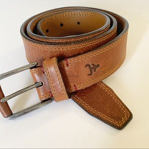 Trask | Natural Brown Leather Belt